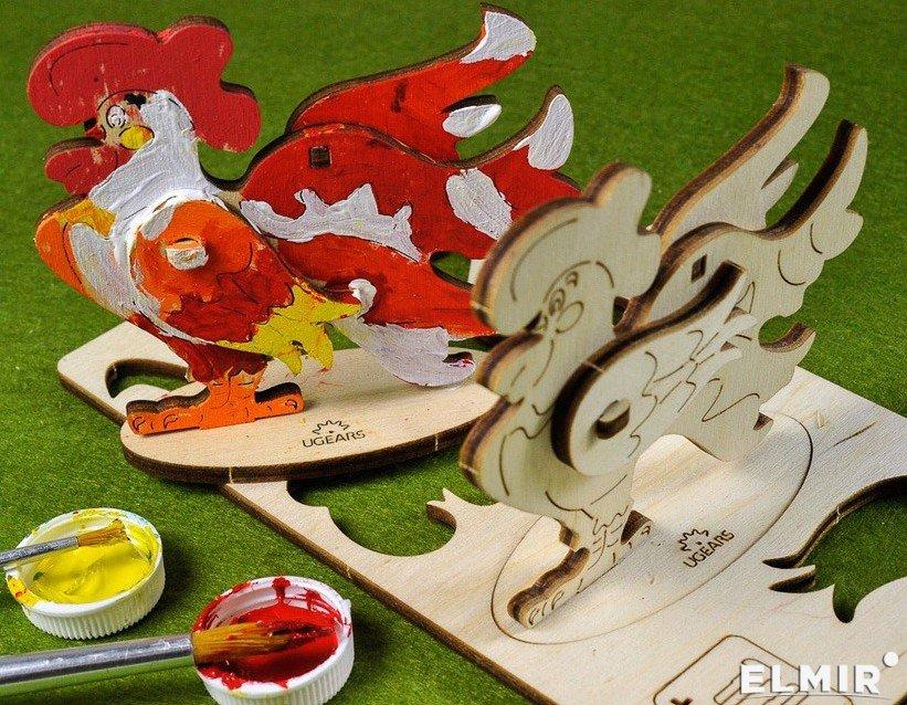 3D-раскраска Ugears Петушок 16 х 9 см (10007) купить ...