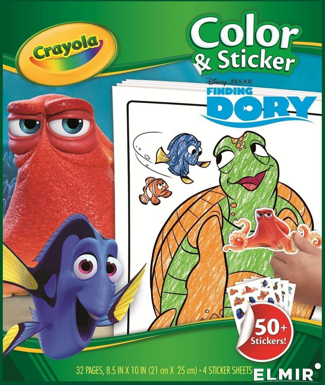 Набор для творчества Crayola Книга-раскраска с наклейками ...